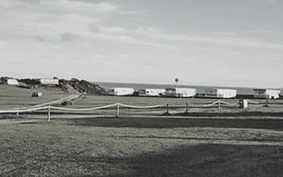 Historic photo of caravans at Mossyard