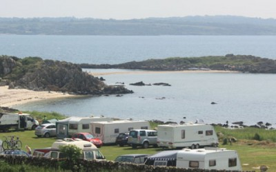 Pitches for tourer, motor homes and camping at Mossyard Caravan Park