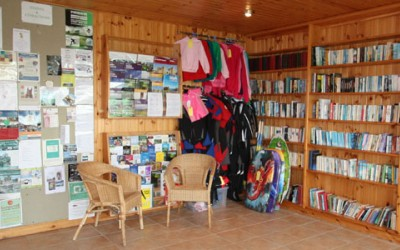 Information hub at Mossyard Caravan Park