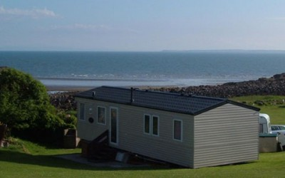 Static rental caravan at Mossyard