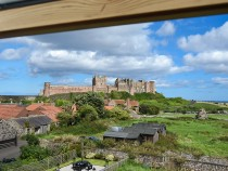 View of Bamburgh Castle from Dunford Cottage
